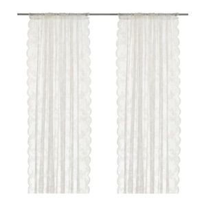 Pair of lace IKEA curtains